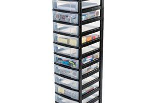 1587928116 775 IRIS Schubladenschrank Schubladenbox Rollwagen Rollcontainer Werkzeugschrank 310x205 - IRIS, Schubladenschrank / Schubladenbox / Rollwagen / Rollcontainer / Werkzeugschrank 'New Chest', NMC-012, mit Rollen, Kunststoff, schwarz / transparent BxTxH: 30 x 38 x 125.5 cm