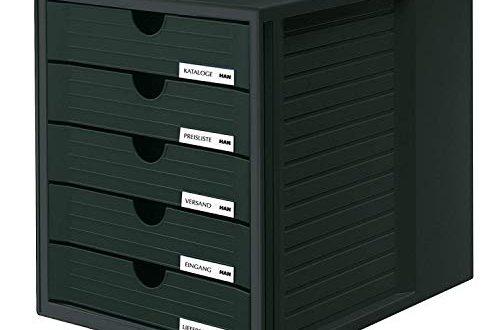 HAN Schubladenbox SYSTEMBOX 1450 13 in Schwarz – Ordnungsbox DIN A4 497x330 - HAN Schubladenbox SYSTEMBOX 1450-13 in Schwarz – Ordnungsbox DIN A4 – Aufbewahrungsbox mit geschlossenen Schubladen