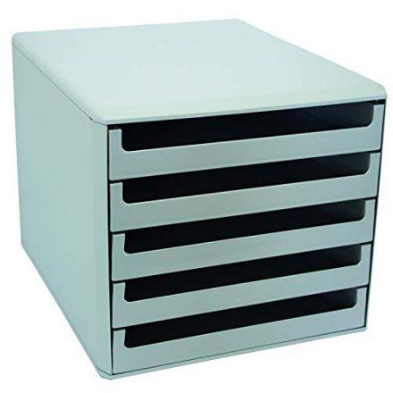 Metzger Mendle 30050909 Schubladenbox mit 5 Schueben hellgrau 440x440 - Schubladenbox
