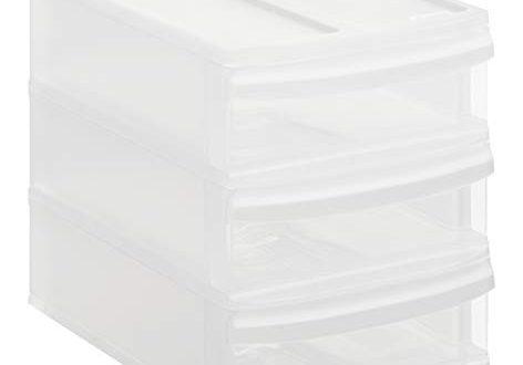 Rotho Systemix Schubladenbox mit 3 Schueben Kunststoff PP transparent Gr 472x330 - Rotho Systemix Schubladenbox mit 3 Schüben, Kunststoff (PP), transparent, Gr. S / A5 (26,5 x 19,2 x 23,3 cm)