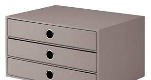 Roessler 1524452493 SOHO 3er Schubladenbox fuer DIN A4 mit 310x165 - Rössler 1524452493 - S.O.H.O. 3er Schubladenbox für DIN A4, mit Griffloch, taupe