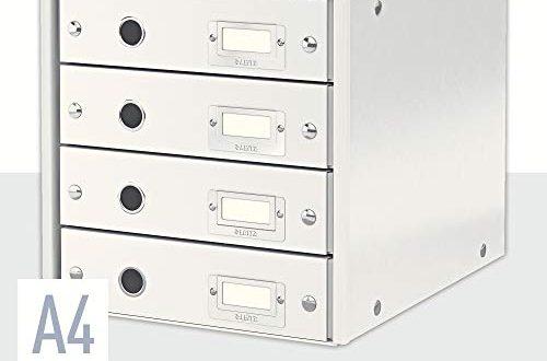 Leitz Click Store Schubladenset 4 Schubladen A4 weiss 60490001 500x330 - Leitz Click & Store Schubladenset, 4 Schubladen, A4, weiß, 60490001