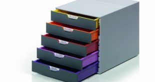 Durable 760527 Schubladenbox A4 Varicolor 5 Faecher mit Etiketten zur 310x165 - Durable 760527 Schubladenbox A4 (Varicolor) 5 Fächer (mit Etiketten zur Beschriftung) mehrfarbig