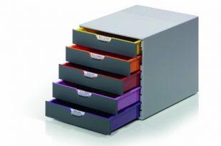 Durable 760527 Schubladenbox A4 Varicolor 5 Faecher mit Etiketten zur 310x205 - Durable 760527 Schubladenbox A4 (Varicolor) 5 Fächer (mit Etiketten zur Beschriftung) mehrfarbig