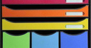 Exacompta 306798D Ablagebox Store Box Maxi Iderama mit 6 Schubladen robust 310x165 - Exacompta 306798D Ablagebox Store-Box Maxi Iderama, mit 6 Schubladen, robust und praktisch, Schwarz/Harlekin, 1 Stück